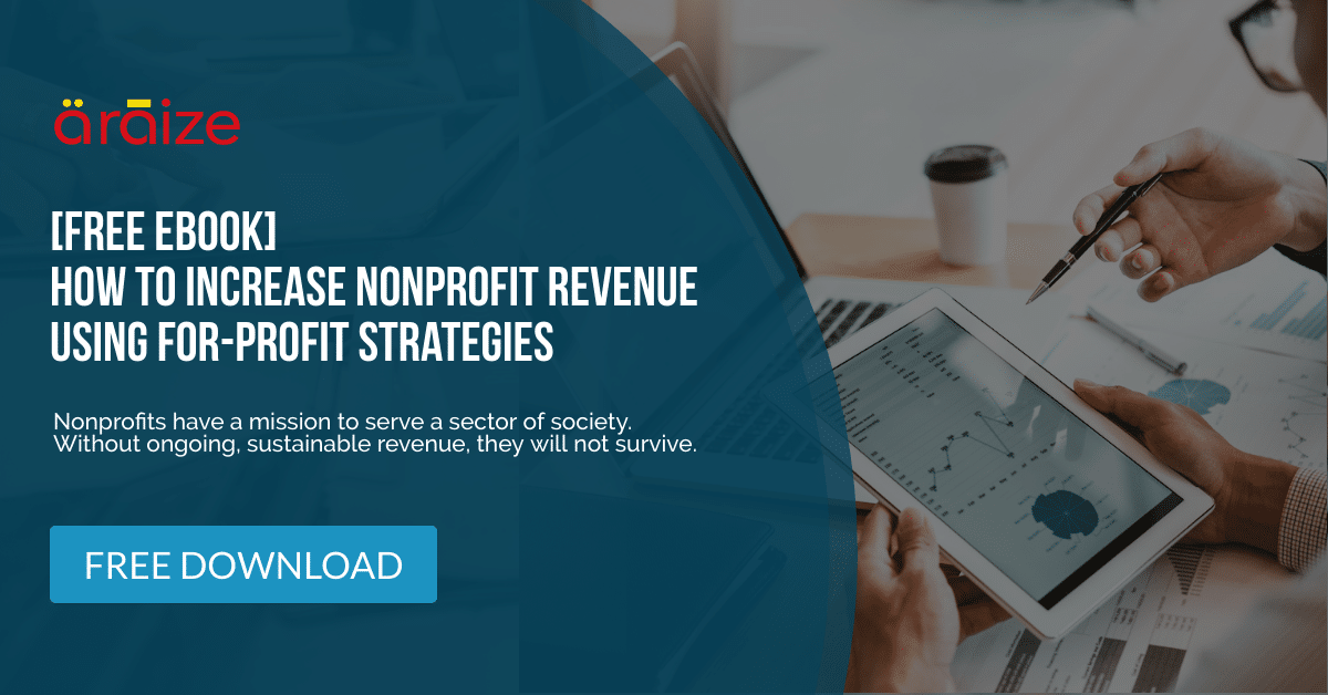 Best Ways To Increase Nonprofit Sustainable Revenue - Free Ebook - araize.com